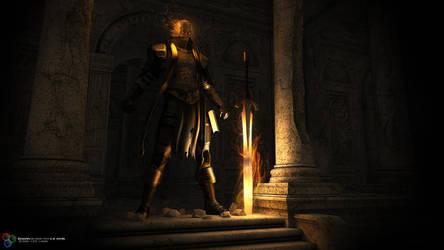 Corrupt Paladin, Undying Vanguard by DarkGeometryArt