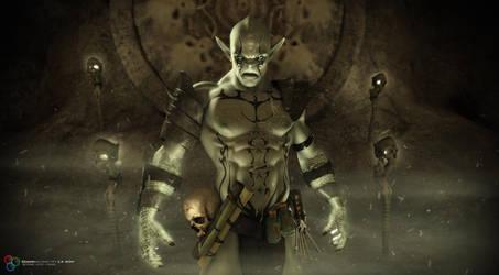 Orc Warlock by DarkGeometryArt