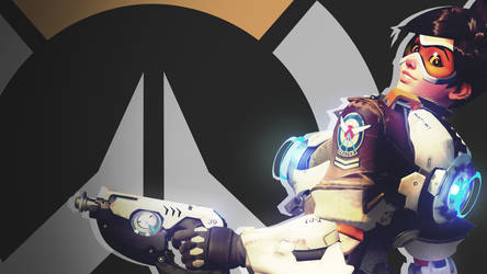 Overwatch Side Profile Wallpaper - Tracer by PT-Desu