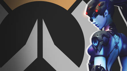 Overwatch Side Profile Wallpaper -  Widowmaker by PT-Desu