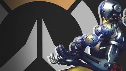 Overwatch Side Profile Wallpaper - Zenyatta by PT-Desu