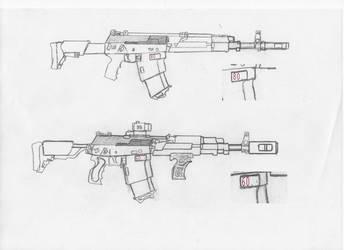 Magnetic Assault Rifle: AK - 512 by SovietChekist