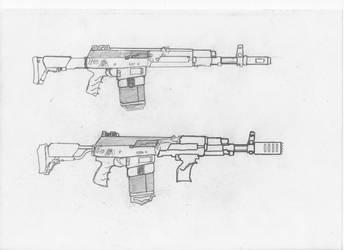 Magnetic assault rifle: AK-512. Version number 2. by SovietChekist