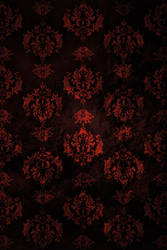 Red Grunge Damask Texture by trash2treasurestock