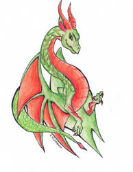 Red and Green Dragon by Pyrczak