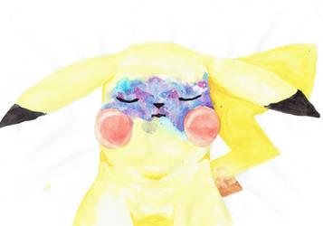 Galaxy Freckles Pikachu by Pyrczak