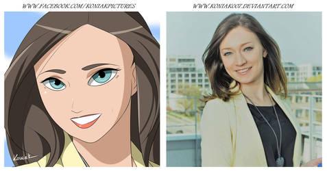 02. Comic Portrait: Monika by Koniak007