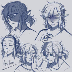Link sketches~ by Ao--hoshi