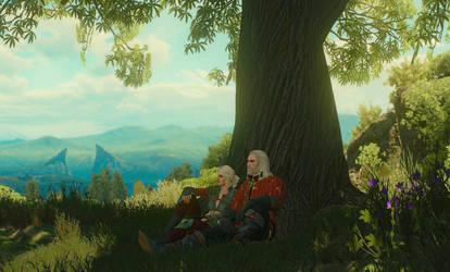 Geralt  Ciri (Blood and Wine) by FreezeXY