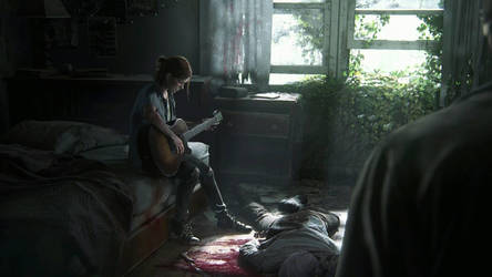 Ellie plays guitar #2 (The last of us) by FreezeXY
