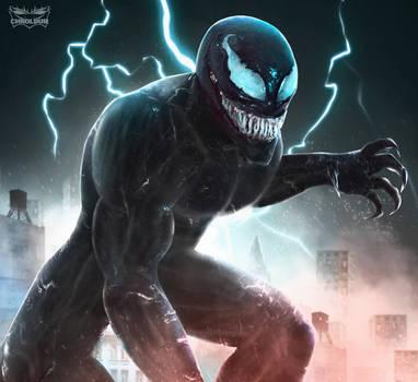 Tom Hardy as Venom by DigestingBat