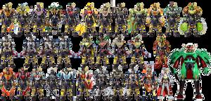 Kamen Rider Gaim 33 Arms by tuanenam