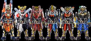 Kamen Rider Gaim Mid-Season Arms by tuanenam