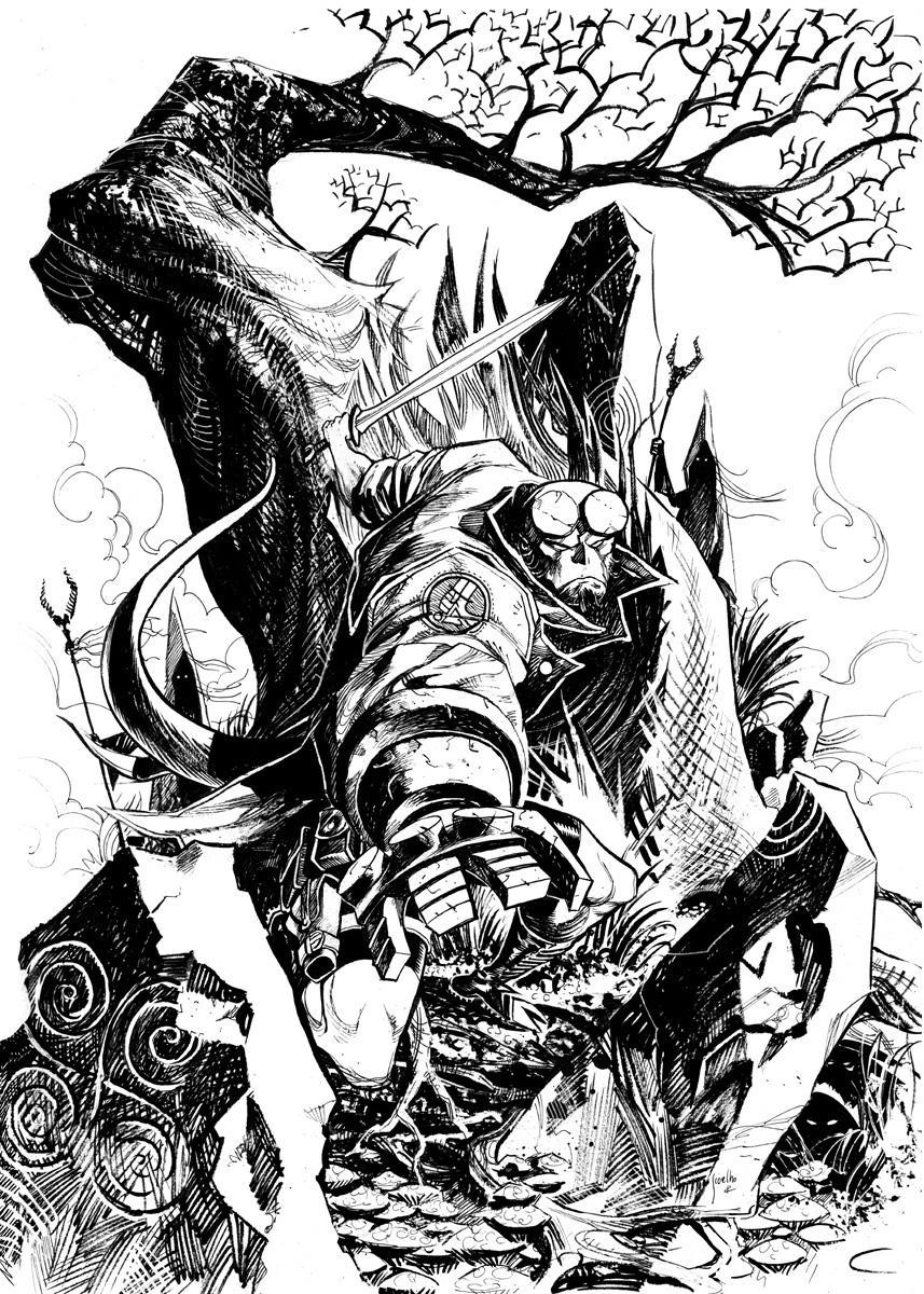 Hellboy commission by JCoelho