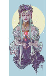 Lady of the Moon by soul-whisper