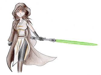 Anya, the Jedi by AceSunburris