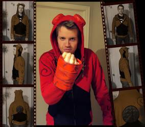 Hellboy inspired hoodie by aternox