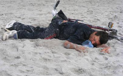 To Much Beer Too Much Sand by Iriesurfinchick