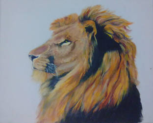 Painted lion by ChocoBookworm