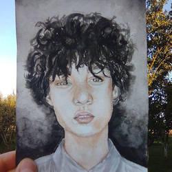 Watercolor boy by ChocoBookworm