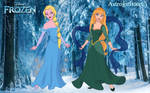 Arabian Princess - Elsa and Anna by Astrogirl500