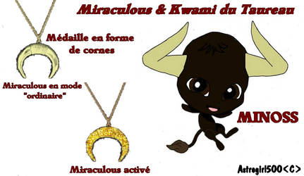 Miraculous et Kwami du Taureau {OC} by Astrogirl500