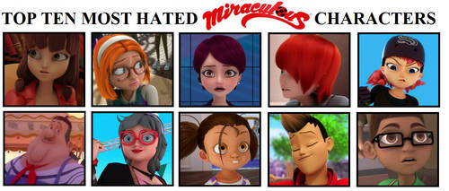 My top 10 characters from Miraculous by Astrogirl500