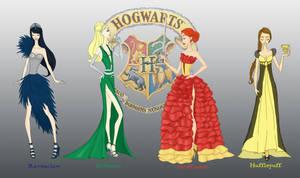 Hogwarts Houses by AvieHudson