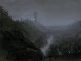 Fog scene by sonofamortician