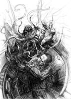 Cthulhu Cover rough Sketch by sonofamortician