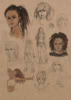 random sketches I by MYuee