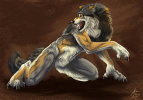 Werewolf with uncreative BG by Atan