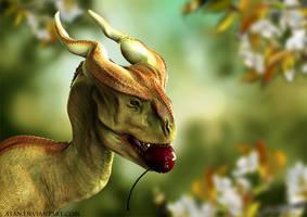 Small dragon with prey by Atan
