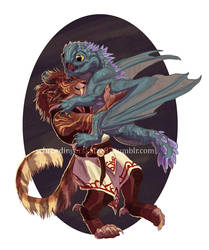 Aurene and the commander by Atan