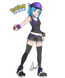 Rose pokemon trainer by PinkSeeds