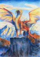 Commission - Valiant Red Sunrise by BrassDragon