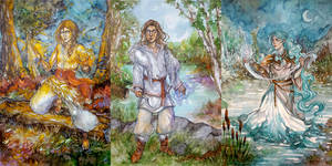 Slavic Gods by Allantiee