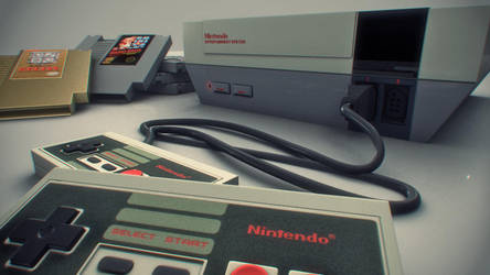 NES Closeup by ruebird