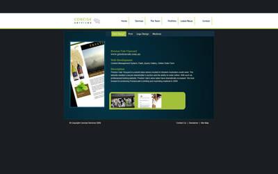 Concise Site, Portfolio Page by bushchicken100