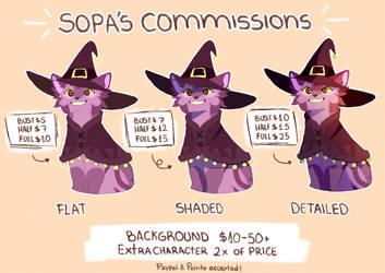 Piuwpa's 2018 Commission Prices OPEN by Piuwpa