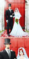 Unused DoL art-Mr n Mrs Marvel by elperromamut