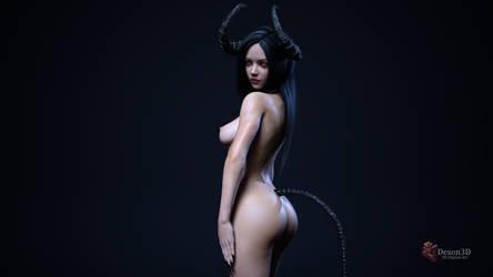 Lynnora 01 ( Nude version ) by Dexon3D