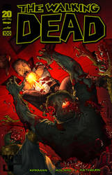 the Walking Dead #100 cover in color by 133art