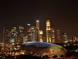 Singapore Night Scene by nordfold
