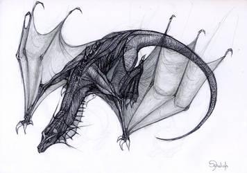 Dragon au bic by o-Sehaliah-o