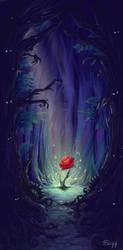 La Rose de l'Enchanteur by o-Sehaliah-o
