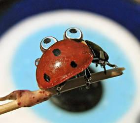 ladybug and drops 1812 by hugara