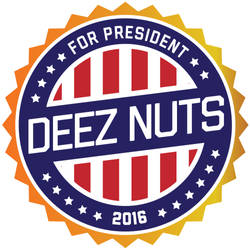 Vote DEEZ NUTS Badge 2016 by philip-estrada