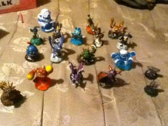 My Skylander collection (SSA) by SonicStarWolfshadow2