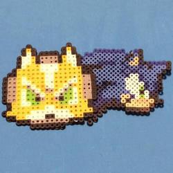 Star Fox and Sonic Perler Beads by SonicStarWolfshadow2